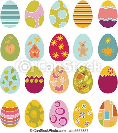cute easter eggs - csp5665357