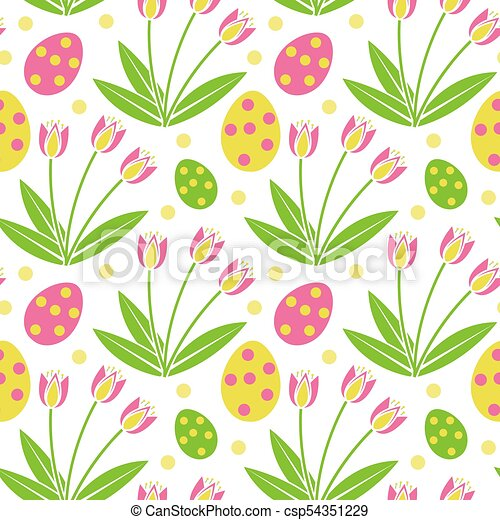 Cute Easter Seamless Pattern Spring Repeating Textures Children S Baby Kids Endless Background Paper Wallpaper Vector Illustration