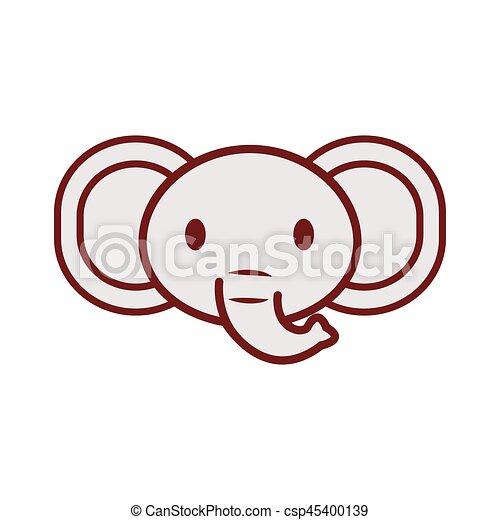 Cute Elephant Face Image
