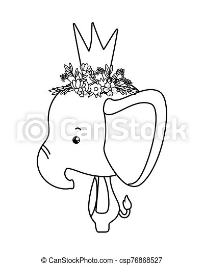 Cute Elephant With Crown Vector Design Cute Elephant With Crown Design Animal Life Nature Character Childhood And Adorable Mini cute resin cartoon elephant cake decoration kid's room decoration ornament home office desk decorative ornament toy gift. can stock photo