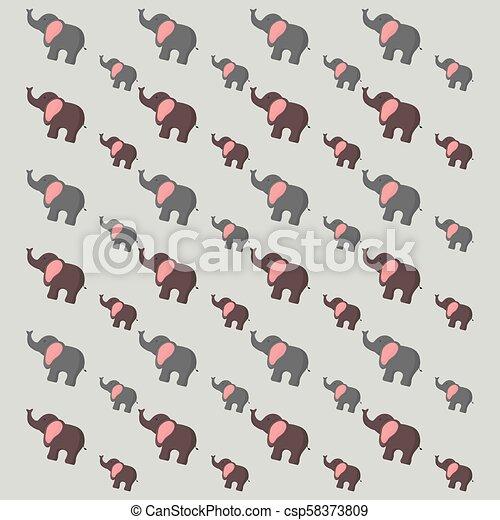 cute elephants pattern - csp58373809