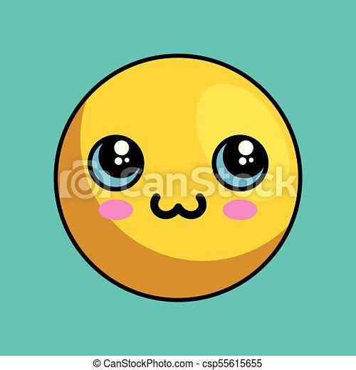 cute face kawaii style - csp55615655