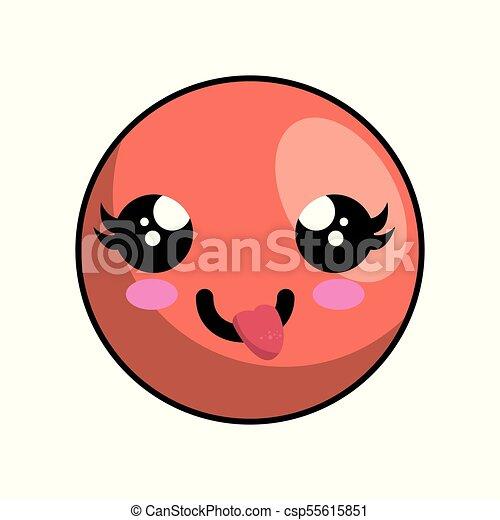 cute face kawaii style - csp55615851