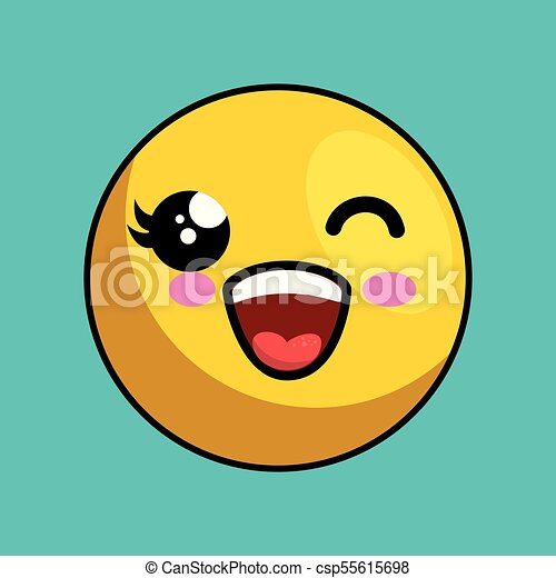 cute face kawaii style - csp55615698