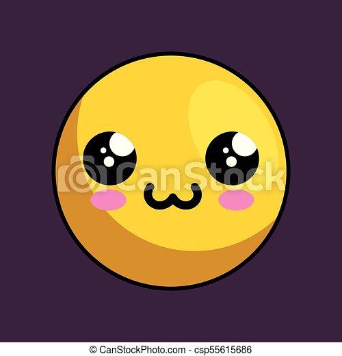 cute face kawaii style - csp55615686