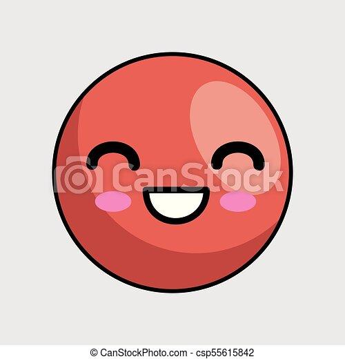 cute face kawaii style - csp55615842