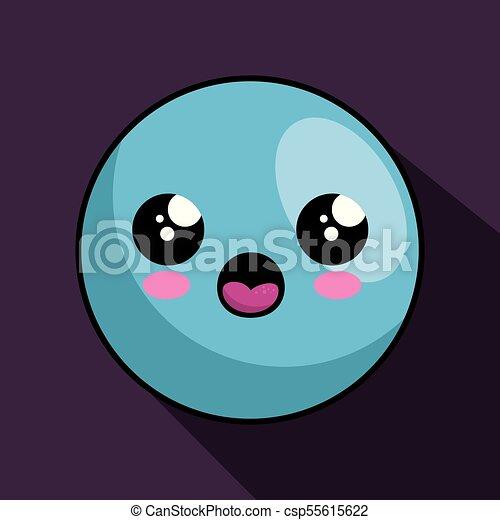 cute face kawaii style - csp55615622