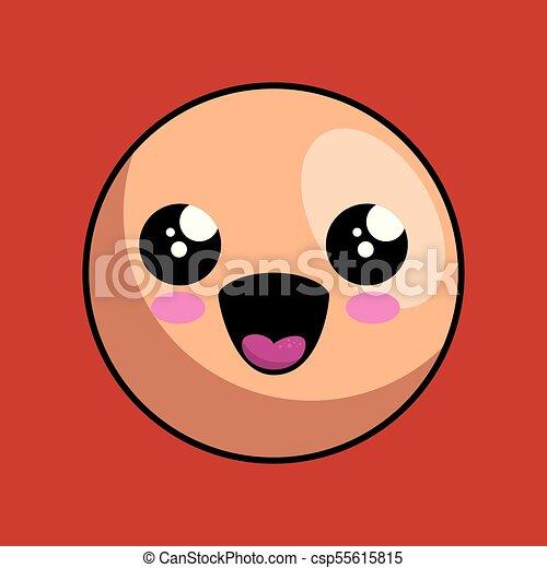 cute face kawaii style - csp55615815