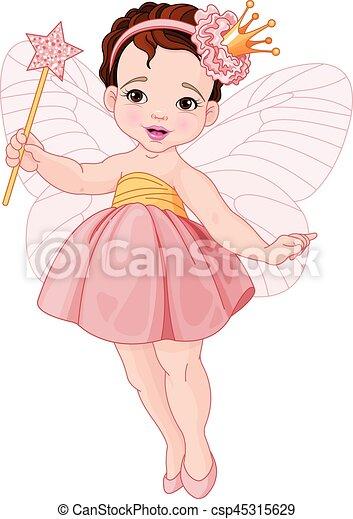 Cute Fairy Ballerina - csp45315629