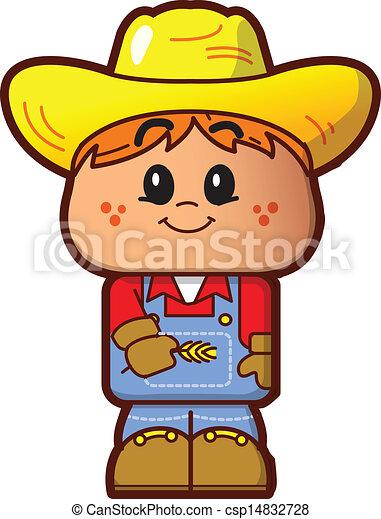 Cute Farmer - csp14832728