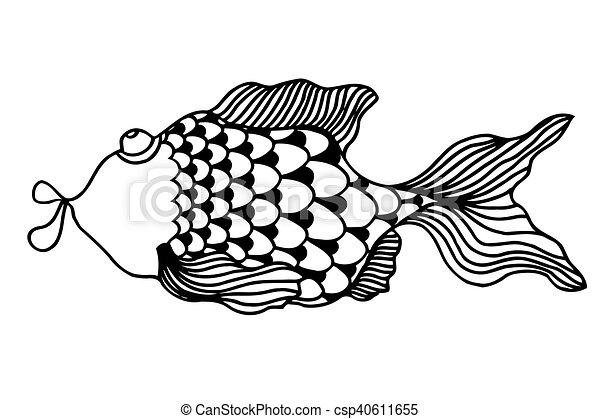 cute fish cartoon - csp40611655