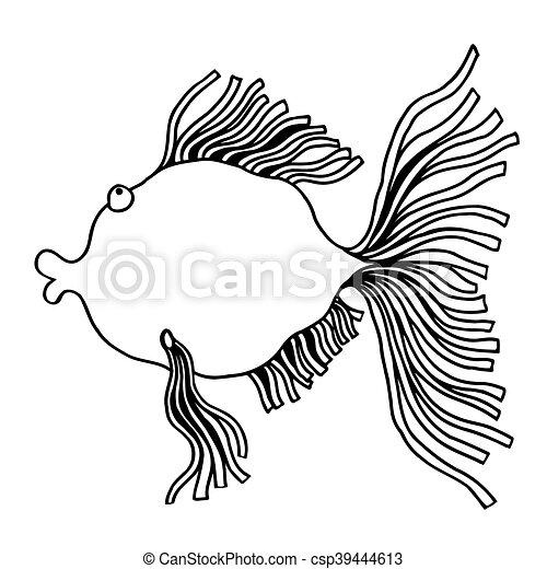 cute fish cartoon - csp39444613