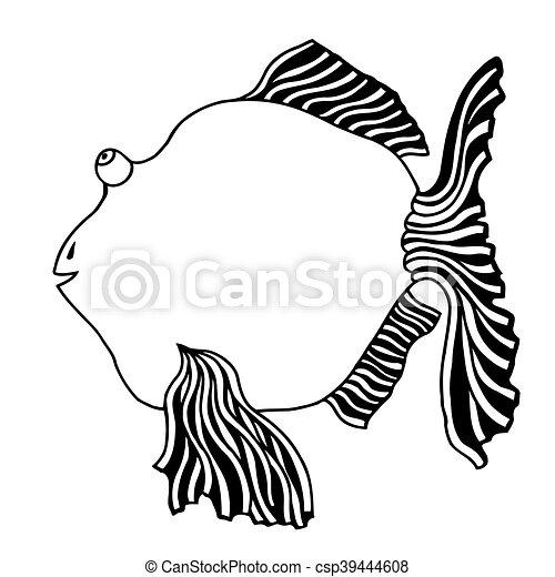 cute fish cartoon - csp39444608