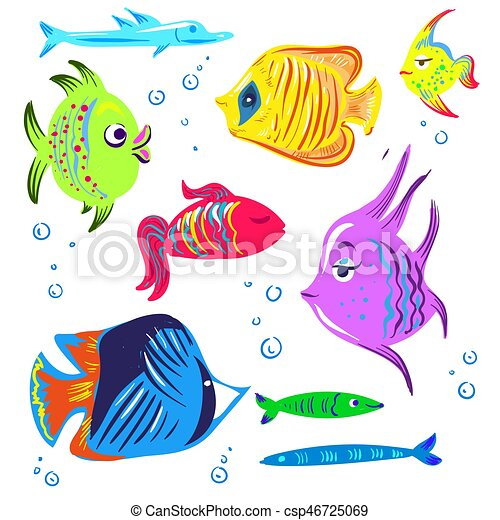 cute fishes cartoon collection fish cartoon collection clip art rh canstockphoto com clip art collection download clip art collection download