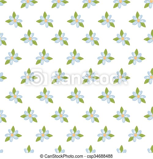 Cute floral background. - csp34688488