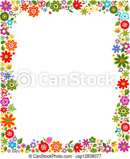 Cute Floral Border Pattern Stock Illustration