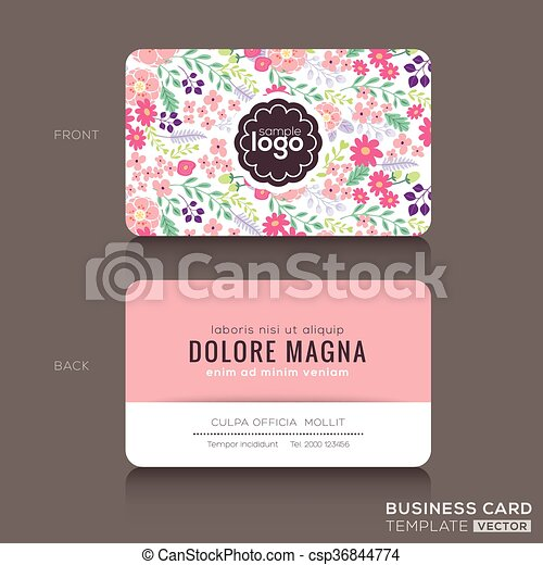 cute floral pattern business card name card design cute floral pattern business card name card. Black Bedroom Furniture Sets. Home Design Ideas