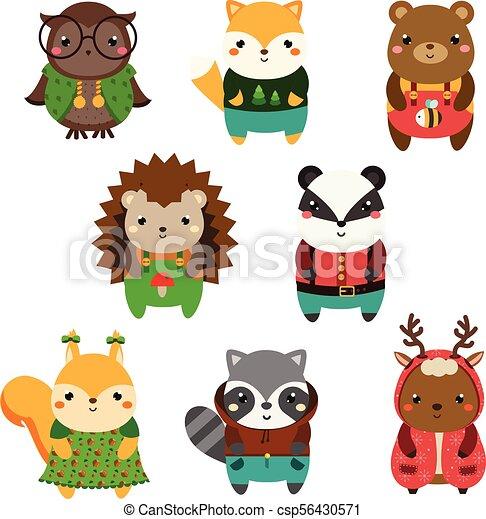 Cartoon Kawaii Cute Drawings Of Animals
