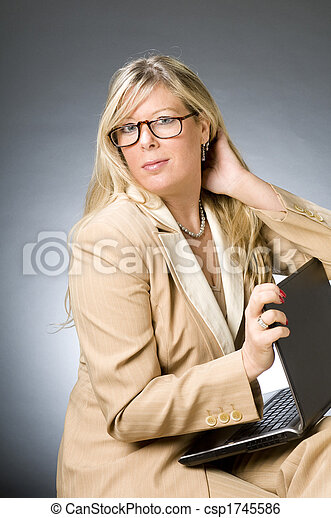 cute forty year old woman senior business executive - csp1745586