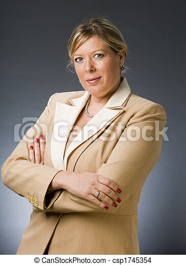 cute forty year old woman senior business executive - csp1745354