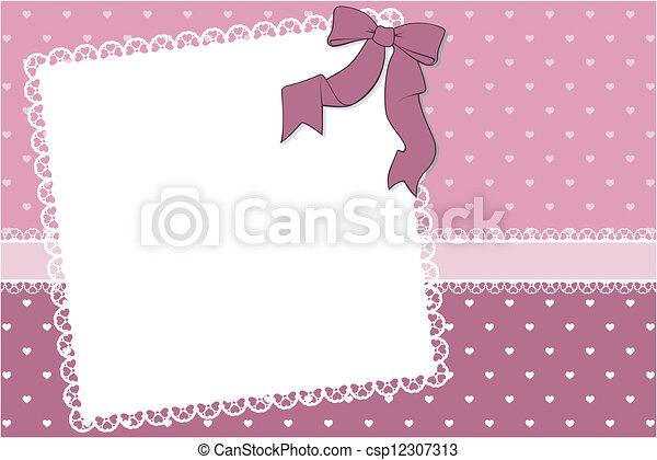 cute frame scrapbook background - csp12307313