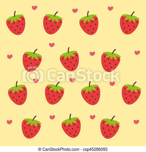 Cute Fresh Strawberry Wallpaper