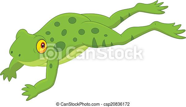 vector illustration of cute frog cartoon jumping vectors rh canstockphoto com Wild Frog Clip Art cartoon jumping frog clipart