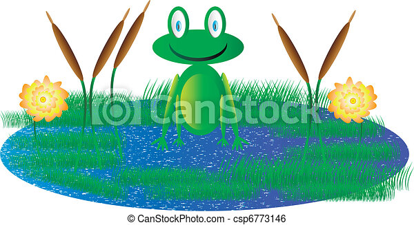 cute frog sitting in swamp clip art vector search drawings and rh canstockphoto com swamp animals clipart swamp clipart free