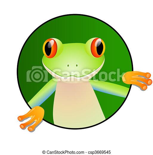 Cute frog - csp3669545