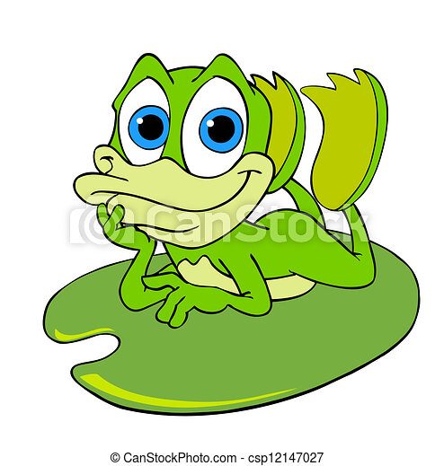 cute frog on a lily pad hand drawn cartoon frog relaxing clip art rh canstockphoto com lilypad clipart lily pad clipart black and white