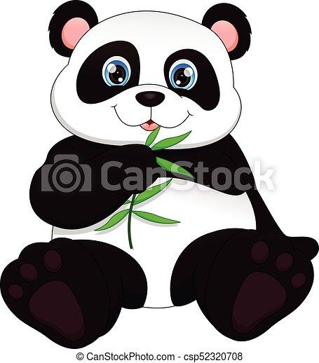 Cute funny baby panda - csp52320708