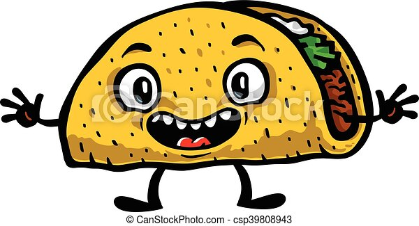 cute funny cartoon taco vector illustration eps vector search clip rh canstockphoto com taco clip art images taco clip art free