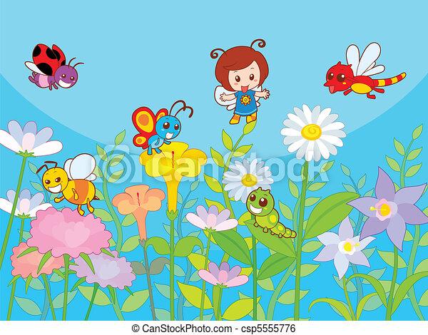 Cute Garden - csp5555776