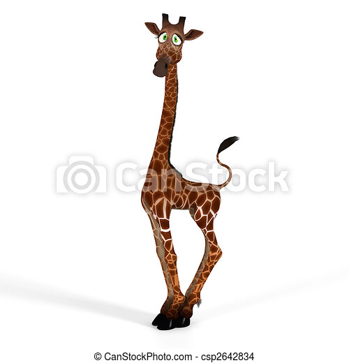 Cute giraffe with a funny face - lovely - csp2642834