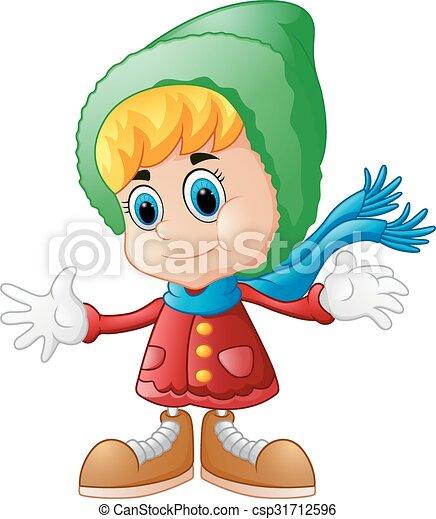 Cute girl cartoon - csp31712596