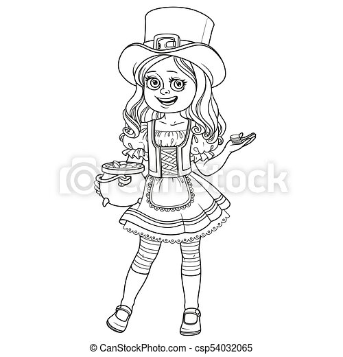 St-Patrick's Day Leprechaun Coloring Pages Free Printable Coloring ... | 470x450