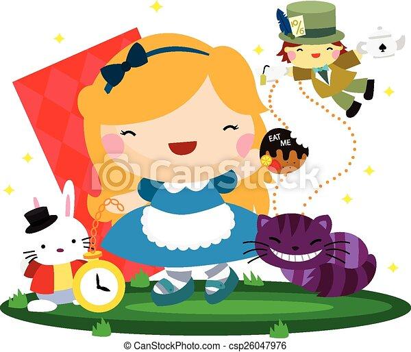 Cute Girl in Wonderland - csp26047976