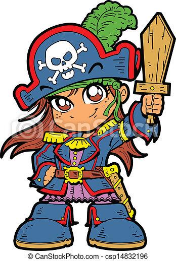 Cute Girl Pirate - csp14832196