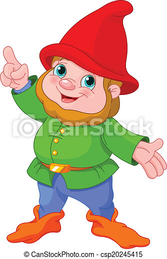 Cute Gnome presenting - csp20245415