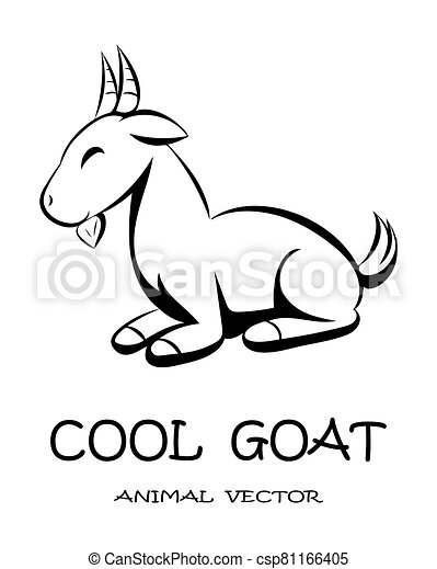 Cute goat animal vector eps 10 - csp81166405