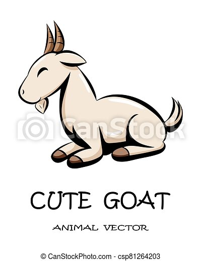 Cute goat animal vector eps 10 - csp81264203