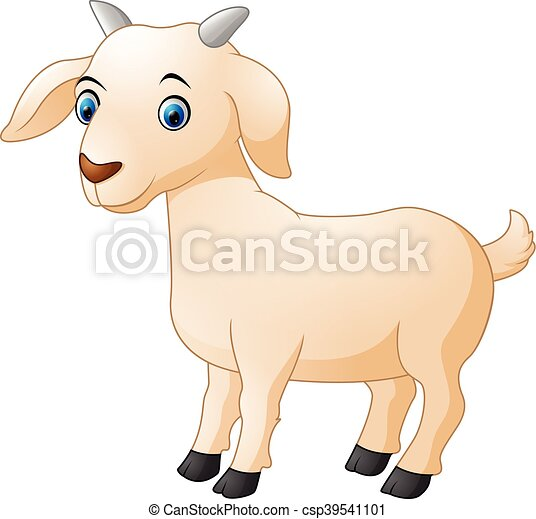 vector illustration of cute goat cartoon rh canstockphoto com goat cartoon images black and white cute goat cartoon pictures