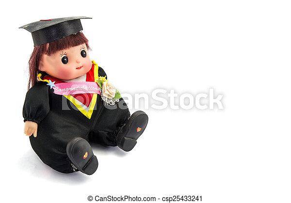 Cute graduation girl - csp25433241
