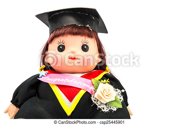Cute graduation girl - csp25445901
