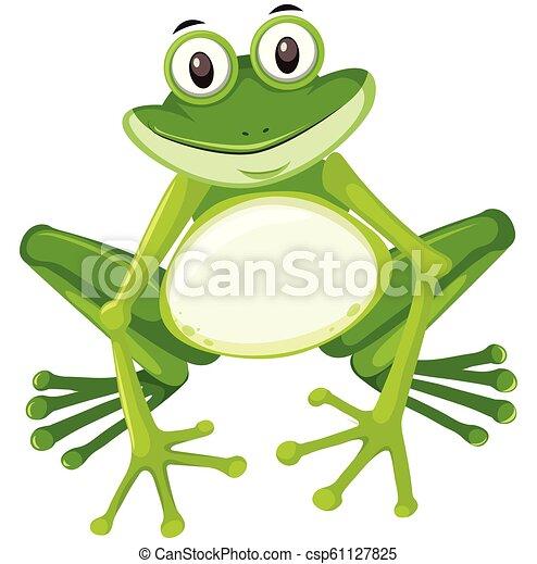 Cute green frog character - csp61127825