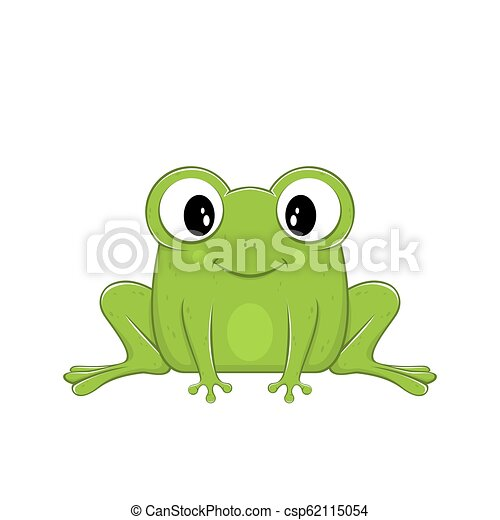 Cute Green Frog - csp62115054