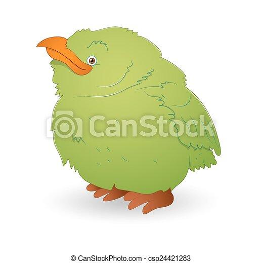 Cute Green Small Bird - csp24421283