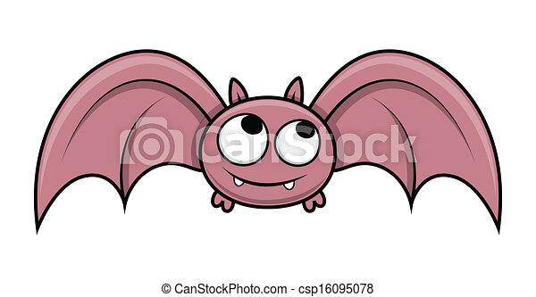 Cute halloween bat flying. Drawing art of funny cute small ...