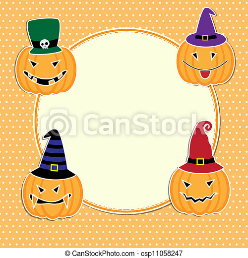 Cute Halloween card with space for text - csp11058247