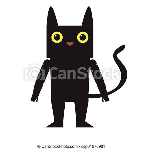 Cute Halloween Cat Cartoon Character